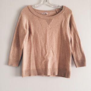 Gap light brown tan sweater 3/4 sleeve blouse top